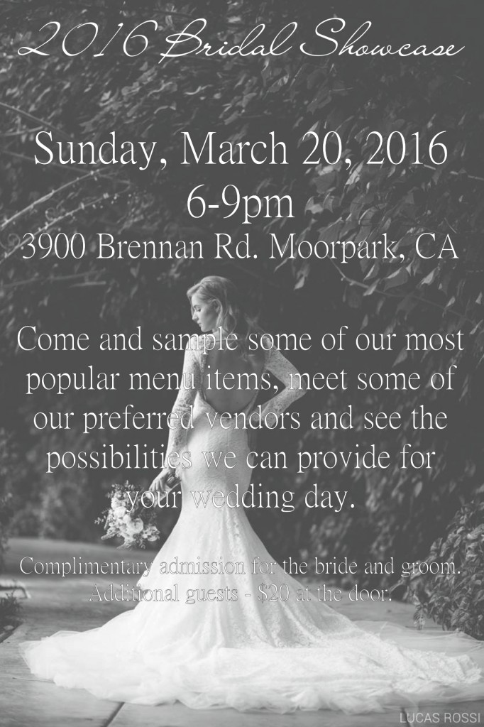 2016 Bridal Showcase Eden Gardens